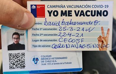 Médicas y médicos veterinarios del país, se vacunan contra COVID-19