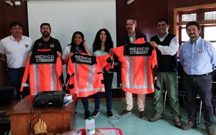 Conformación de Grupo de Apoyo Veterinario a Bomberos de Achao-Chiloé